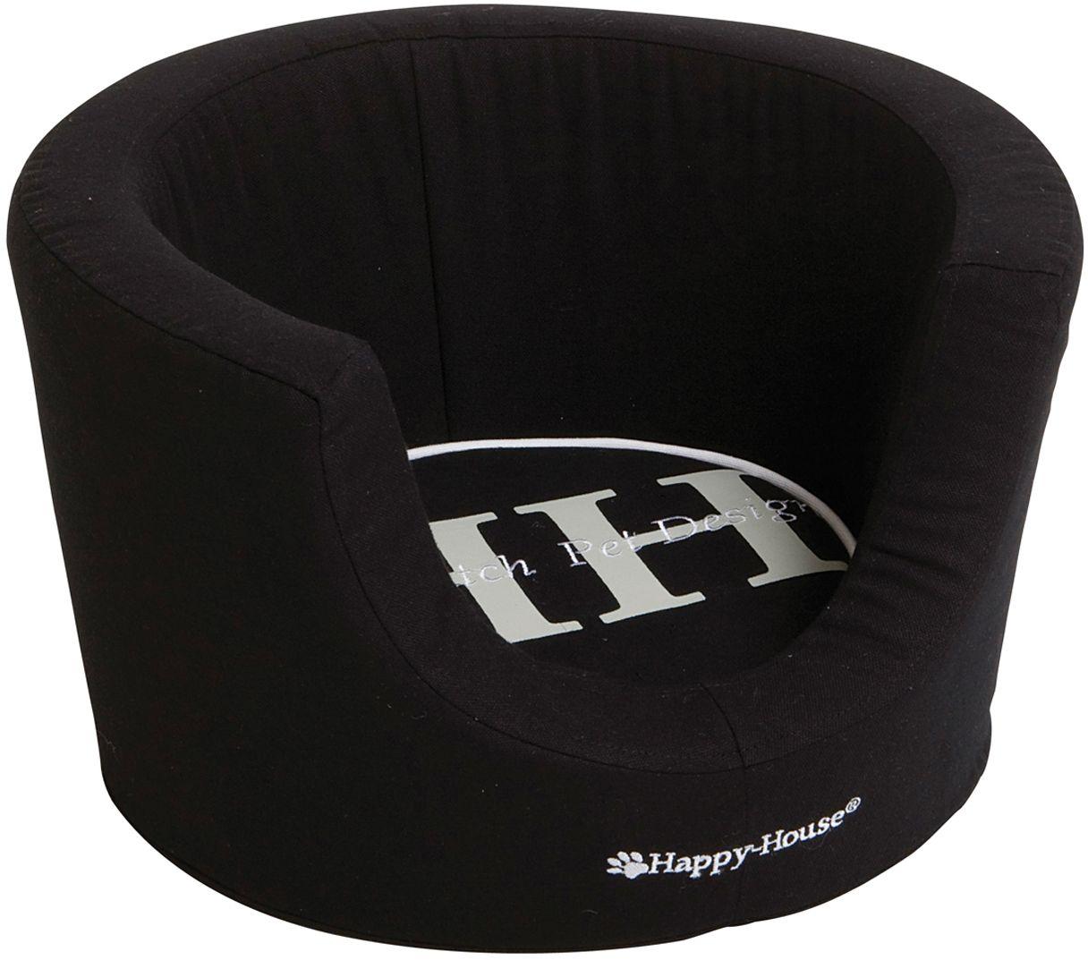 Лежак для животных Happy House Canvas Comfort, цвет: черный, 52 х 52 х 31 см подушка для животных happy house canvas цвет черный 107 х 70 х 10 см