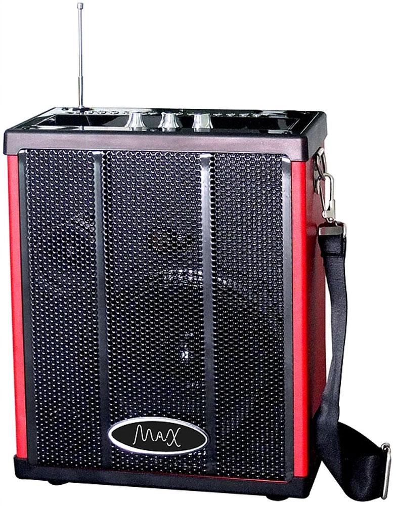 MAX Q71, Red Black портативная акустическая система4630011250819Мощная многофункциональная портативная акустика MAX Q71. Воспроизводит музыку с USB/MicroSD. Соединяется с любым устройством обладающим Bluetooth. Работает на аккумуляторе до 10 часов. Воспроизводит громкое и качественное звучание. Подходит как для небольшого помещения так и для открытого пространства. Имеет удобный ремень для плеча.Цифровые клавиши для выбора трекаЭхо-эффектПоддержка форматов MP3, WMAFM приёмник 87.5–108.0 МГцВстроенный литиевый аккумулятор (2000мА/ч)