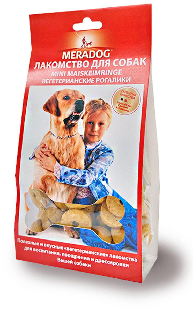 Лакомство для собак Meradog Mini Maiskerimringe, вегетарианские рогалики, 150 г941310Лакомства Meradog - это восхитительное хрустящее печенье, которое не оставит равнодушным ни одну собаку. Лакомства Meradog всегда помогут сделать вашего питомца счастливым, а особый вкус и аромат обязательно доставят ему море удовольствия, и он попросит еще. Лакомства идеально подойдут в качестве угощения и для дрессировки. Воспитание и дрессировка с вкусняшками Meradog приведут вас к цели быстрее, чем вы думаете.Лакомства для собак Meradog - это:- Полезные добавки к основному питанию.- Витамины и минералы, способствующие восстановлению баланса питательных веществ и укреплению здоровья собаки.- Отличная профилактика образования зубного камня и заболеваний полости рта.Побалуйте свою собаку - подарите ей заботу с Meradog.Состав: злаки, овощные субпродукты (кукуруза 10%), минералы.Товар сертифицирован.Тайная жизнь домашних животных: чем занять собаку, пока вы на работе. Статья OZON Гид