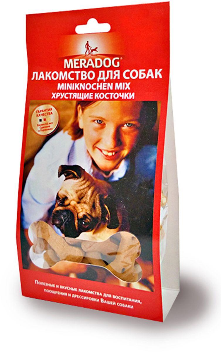 Лакомство для собак Meradog Miniknochen Mix, хрустящие косточки, 150 г941610Лакомства Meradog - это восхитительное хрустящее печенье, которое не оставит равнодушным ни одну собаку. Лакомства Meradog всегда помогут сделать вашего питомца счастливым, а особый вкус и аромат обязательно доставят ему море удовольствия, и он попросит еще. Лакомства идеально подойдут в качестве угощения и для дрессировки. Воспитание и дрессировка с вкусняшками Meradog приведут вас к цели быстрее, чем вы думаете.Лакомства для собак Meradog - это:- Полезные добавки к основному питанию.- Витамины и минералы, способствующие восстановлению баланса питательных веществ и укреплению здоровья собаки.- Отличная профилактика образования зубного камня и заболеваний полости рта.Побалуйте свою собаку - подарите ей заботу с Meradog.Состав: злаки, мясо и мясные субпродукты, масла и жиры, овощные субпродукты, минералы.Товар сертифицирован.Тайная жизнь домашних животных: чем занять собаку, пока вы на работе. Статья OZON Гид