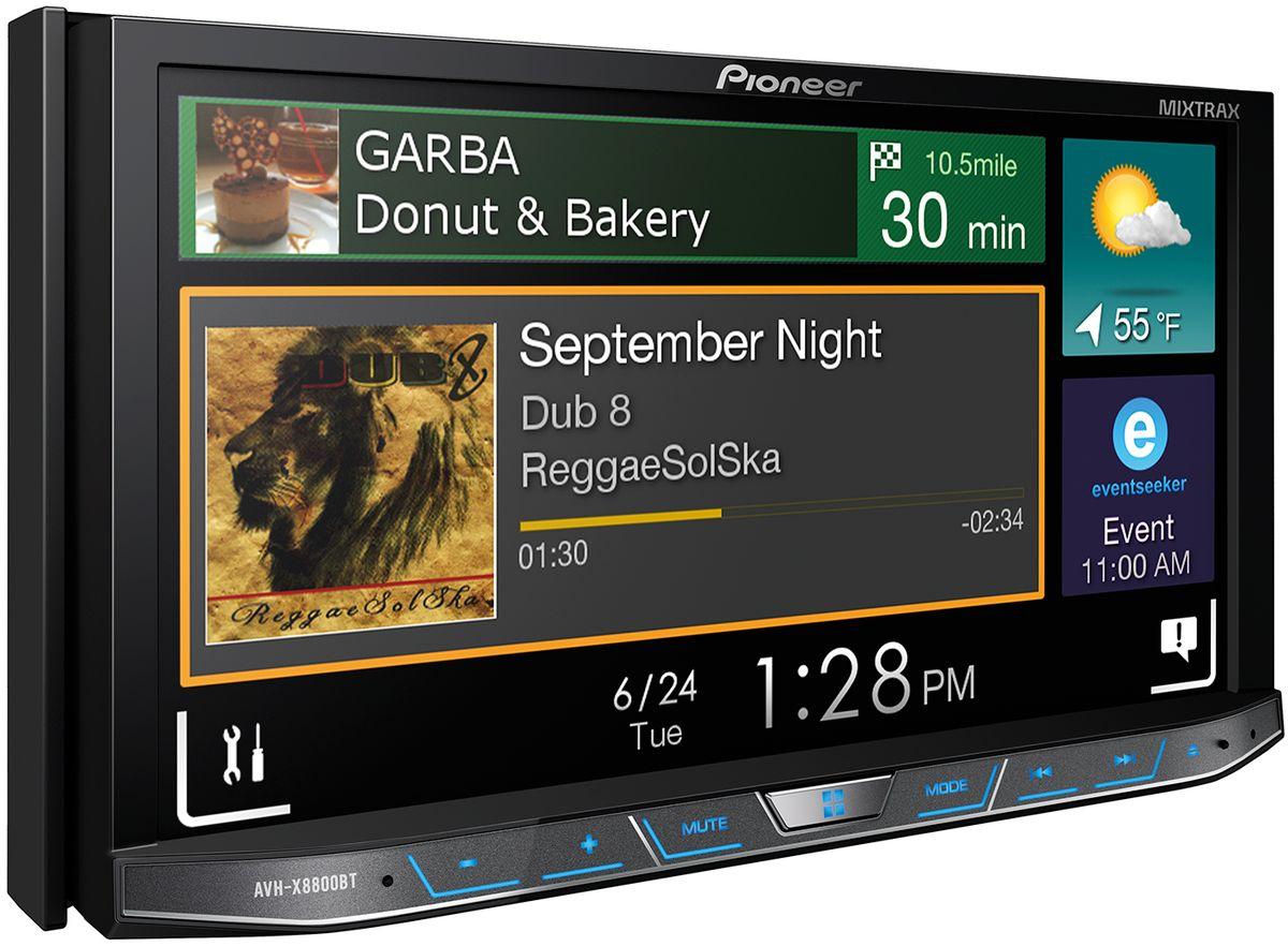 Pioneer AVH-X8800BT автомагнитола1024285У продвинутого водителя может быть все: Pioneer AVH-X8800BT с высококачественным аудио и видео и современные возможности подключения вашего смартфона. С Apple CarPlay, Android Auto, AppRadio Mode, Bluetooth и не только можно подключить буквально все.Эта автомобильный мультимедийный ресивер с большим полностью съемным 7-дюймовым экраном Clear Type Resistive, поддержкой удобных жестов и интуитивным простым в использовании интерфейсом как в смартфоне, который можно настроить по вашим предпочтениям. Чтобы увеличить громкость, к AVH-X8800BT можно подключить несколько дополнительных усилителей, громкоговорителей или сабвуферов через 3 RCA высоковольтных выхода предусилителя. Слушайте свою музыку через колонки или смотрите фильмы и получайте удовольствие от поездки! Благодаря наличию двух разъемов USB вы можете существенно расширить возможности системы. Подключите iPod пассажира, не отсоединяя своего устройства, чтобы увеличить объем фонотеки. Оставьте iPod в автомобиле и добавьте в микс новые композиции с USB-диска. Возможности безграничны.CarPlay и Android Auto дает возможность осуществлять звонки, использовать навигацию, воспроизводить музыку, отправлять сообщения с iPhone/Android устройств при помощи голосовых команд, не отвлекаясь от вождения. HDMI вход позволяет подключить к головному устройству AVH-X8800BT дополнительные источники, используя HDMI для передачи аудио и видео в HD качестве.MIXTRAX создает бесконечный микс из вашей музыкальной библиотеки для идеальной вечеринки, дополняя ее рядом DJ-эффектов и клубной цветомузыкой.