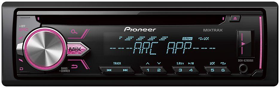 Pioneer DEH-X2900UI автомагнитола1025101Pioneer DEH-X2900UI оснащен встроенным усилителем на полевых транзисторах MOSFET с выходной мощностью 50 Вт на каждый из 4-х каналов. Вы можете подключить дополнительные компоненты, такие как сабвуфер или внешние усилители, к 2 RCA выходам, чтобы добиться большей мощности и улучшить качество звучания.Вы можете прослушивать музыку с CD-дисков, USB-накопителей, а так же принимать широкий диапазон радиостанций FM и AM диапазона. Воспроизводить MP3, WMA И WAV файлы можно с USB накопителей, а так же, подключив свой iPod, iPhone или Android смартфон к USB или Aux-входу на фронтальной панели.DEH-X2900UI позволяет получить доступ к библиотеке iTunes на вашем iPod/iPhone благодаря функции Direct Control, а так же к медиаданным Android смартфона для прослушивания любимой музыки. Кроме того, магнитола имеет поддержку протокола CDP 1.5 для Android, что позволяет ей быстрее заряжать Android устройства.