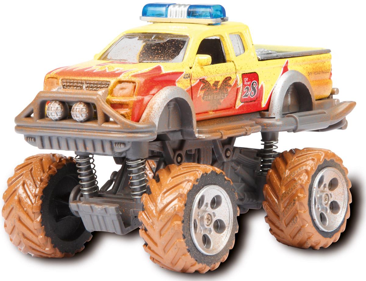 Dickie Toys Внедорожник Rally Monster цвет желтый игрушка dickie toys внедорожник имитация грязи 3742000