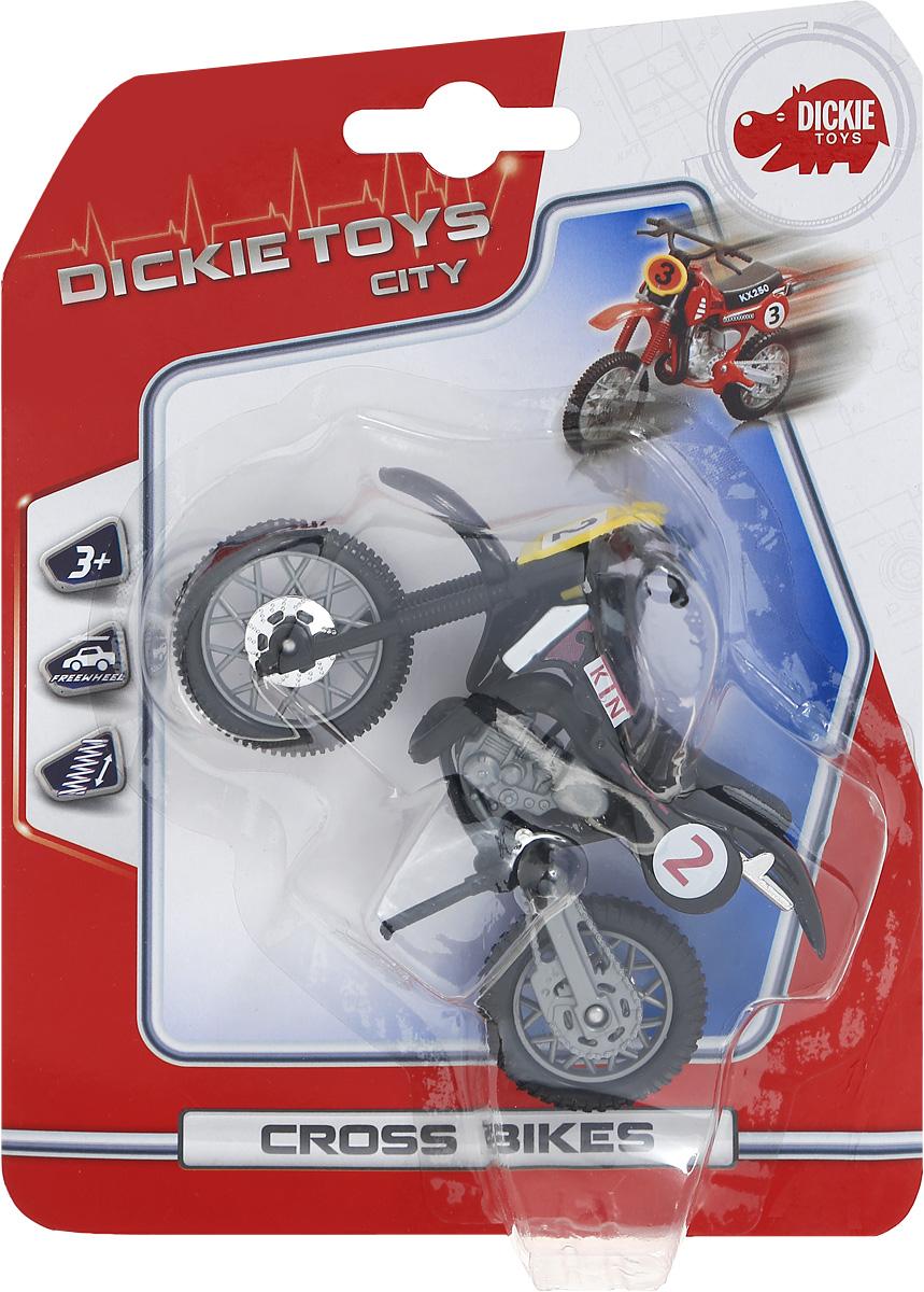 Dickie Toys Кроссовый мотоцикл цвет черный