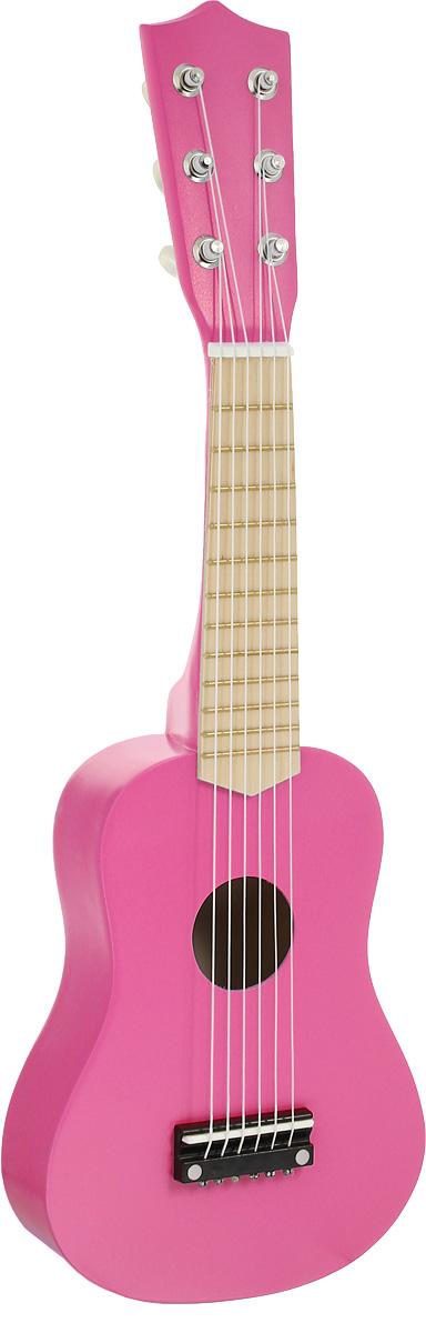 Игрушки из дерева Гитара цвет розовый