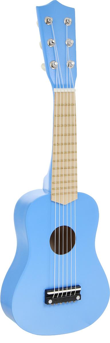Игрушки из дерева Гитара цвет синий - Музыкальные инструменты