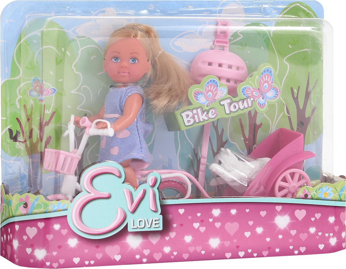 Simba Игровой набор с мини-куклой Bike Tour цвет платья фиолетовый