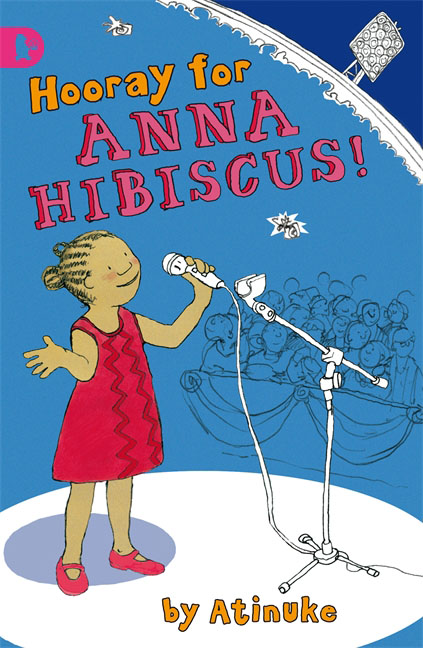 Hooray for Anna Hibiscus! a woman kneeling in the big city