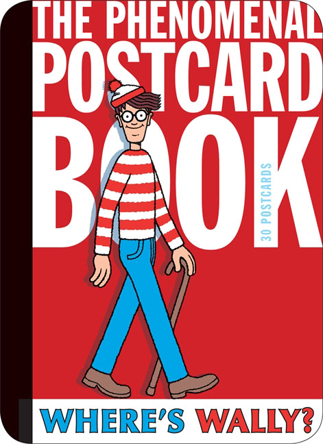 Where's Wally? The Phenomenal Postcard Book 30pcs in one postcard take a walk on the go new york america christmas postcards greeting birthday message cards 10 2x14 2cm