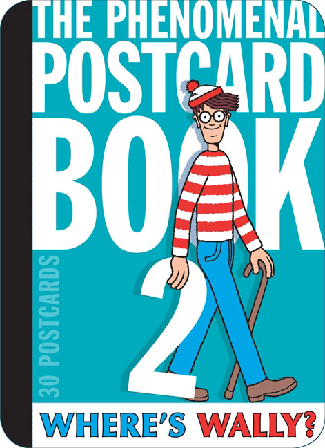 Where's Wally? The Phenomenal Postcard Book Two 30pcs in one postcard take a walk on the go new york america christmas postcards greeting birthday message cards 10 2x14 2cm