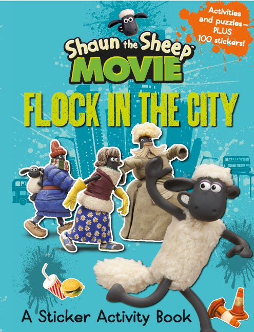 Shaun the Sheep Movie - Flock in the City Sticker Activity Book место для отдыха трикси shaun the sheep 50х35см cream green