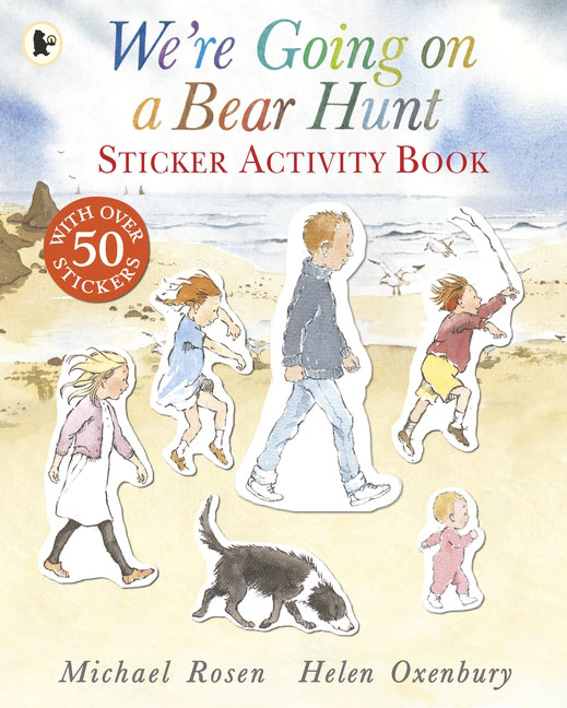 We're Going on a Bear Hunt my counting sticker activity book