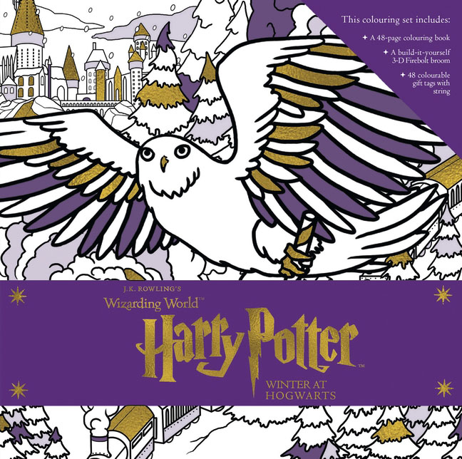 Harry Potter: Winter at Hogwarts: A Magical Colouring Set harry potter magical places from the films hogwarts diagon alley and beyond