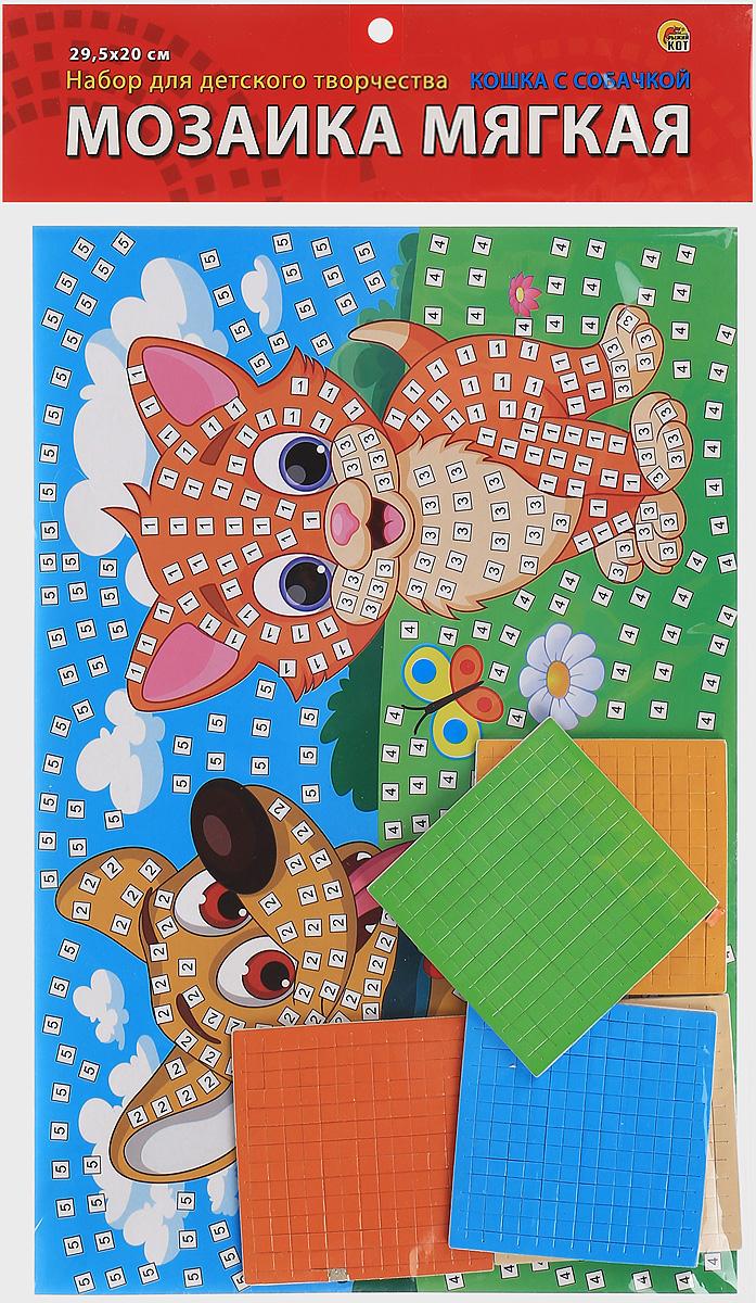 Рыжий Кот Мозаика мягкая Кошка с собачкой мозаика рыжий кот для малышей