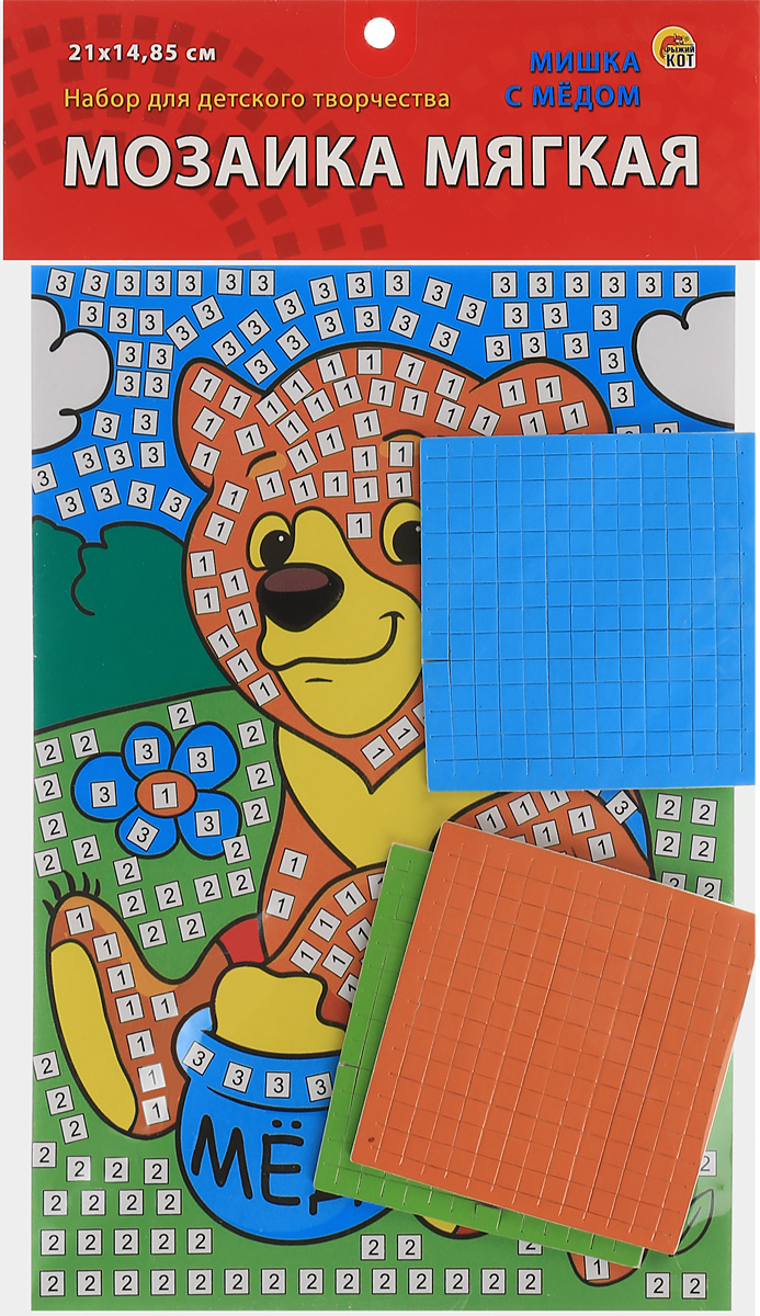 Рыжий Кот Мозаика мягкая Мишка с медом рыжий кот мозаика 250 фишек