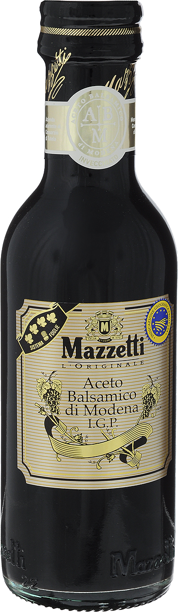 Mazzetti уксус бальзамический 4 листочка, 250 мл65104Бальзамический уксус Mazzetti получен путем бережной ферментации отборного виноградного сусла и созревает в течение долгих лет в дубовых бочонках. Черный знак 4 листочка означает полнотелый вкус и пьянящий аромат. Рекомендуется для эксклюзивных рецептов, для добавления в клубнику, мороженое и к сыру Пармезан.Уважаемые клиенты! Обращаем ваше внимание, что полный перечень состава продукта представлен на дополнительном изображении.