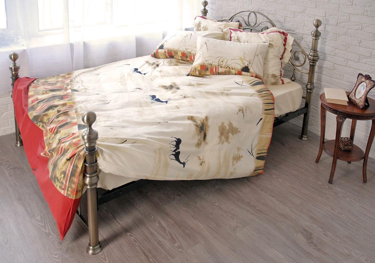 Комплект белья Сказка (2-х спальный КПБ, сатин, 4 наволочки 50х70, 70х70)Т-1695-01-1763-01_2-спальныйКомплект постельного белья Сказка, изготовленный из сатина, поможет вам расслабиться и подарит спокойный сон. Постельное белье имеет изысканный внешний вид и обладает яркостью и сочностью цвета. Комплект состоит из пододеяльника, простыни и четырех наволочек. Все предметы комплекта цельнокроеные. Благодаря такому комплекту постельного белья вы сможете создать атмосферу уюта и комфорта в вашей спальне.Сатин производится из высших сортов хлопка, а своим блеском, легкостью и на ощупь напоминает шелк. Такая ткань рассчитана на 200 стирок и более. Постельное белье из сатина превращает жаркие летние ночи в прохладные и освежающие, а холодные зимние - в теплые и согревающие. Благодаря натуральному хлопку, комплект постельного белья из сатина приобретает способность пропускать воздух, давая возможность телу дышать. Одно из преимуществ материала в том, что он практически не мнется и ваша спальня всегда будет аккуратной и нарядной. Страна:Россия. Материал:сатин (100% хлопок). В комплект входят:Пододеяльник - 1 шт. Размер: 175 см х 210 см.Простыня - 1 шт. Размер: 240 см х 270 см.Наволочка - 2 шт. Размер: 50 см х 70 см.Наволочка - 2 шт. Размер: 70 см х 70 см. Коллекция постельного белья Tete-a-Tete - российская новинка, выполненная в лучших европейских традициях из роскошного премиум-сатина (более плотного и мягкого по сравнению с обычным сатином). Потребительские качества постельного белья Tete-a-Tete обусловлены выбором материала для пошива. Компания использует 100% египетский хлопок для изготовления тканей. Качество красителей и ткани надолго позволяют сохранить яркость цветов.Постельное белье Tete-a-Tete будет отличным подарком.Советы по выбору постельного белья от блогера Ирины Соковых. Статья OZON Гид