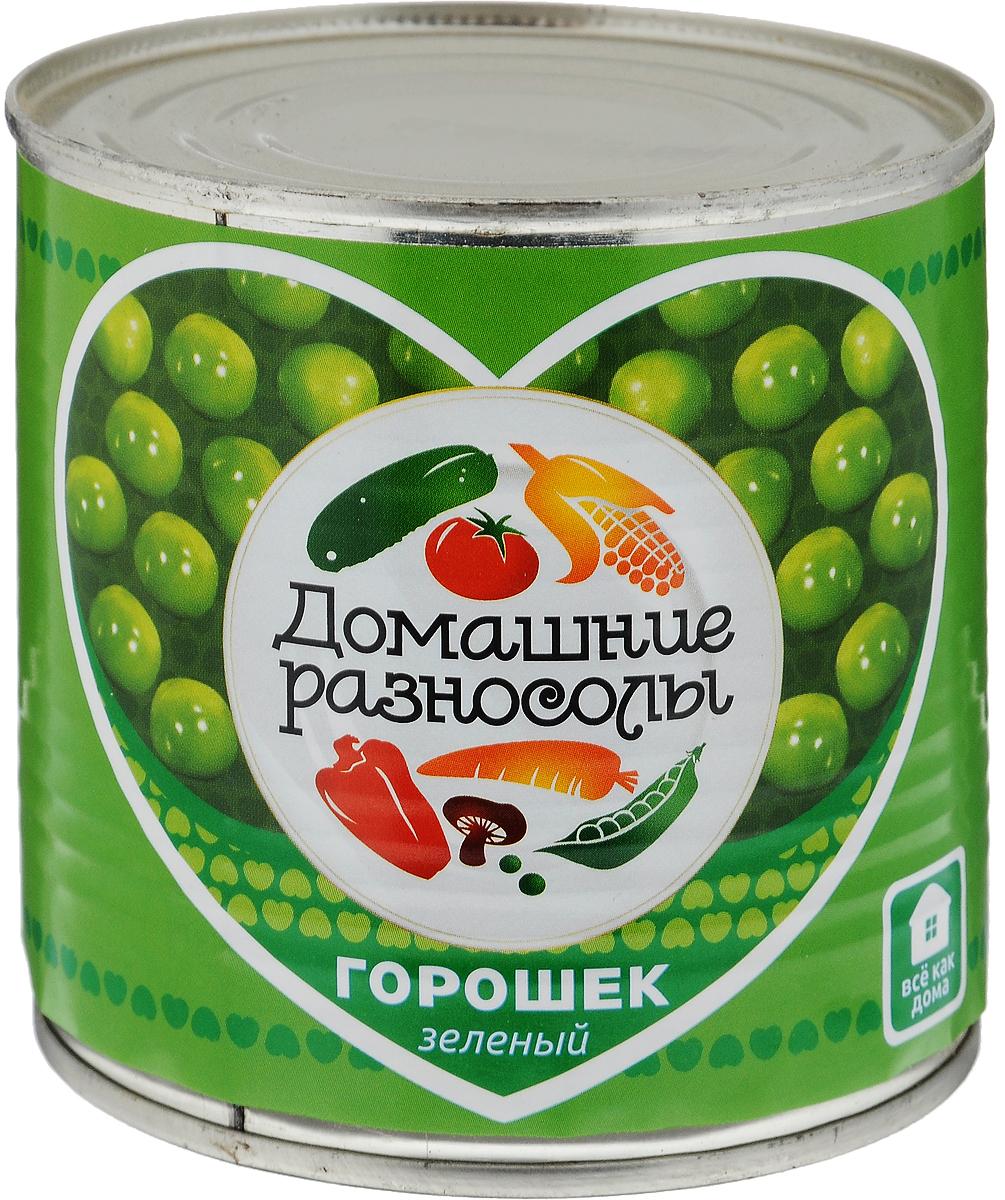 Домашние разносолы горошек зеленый, 400 г