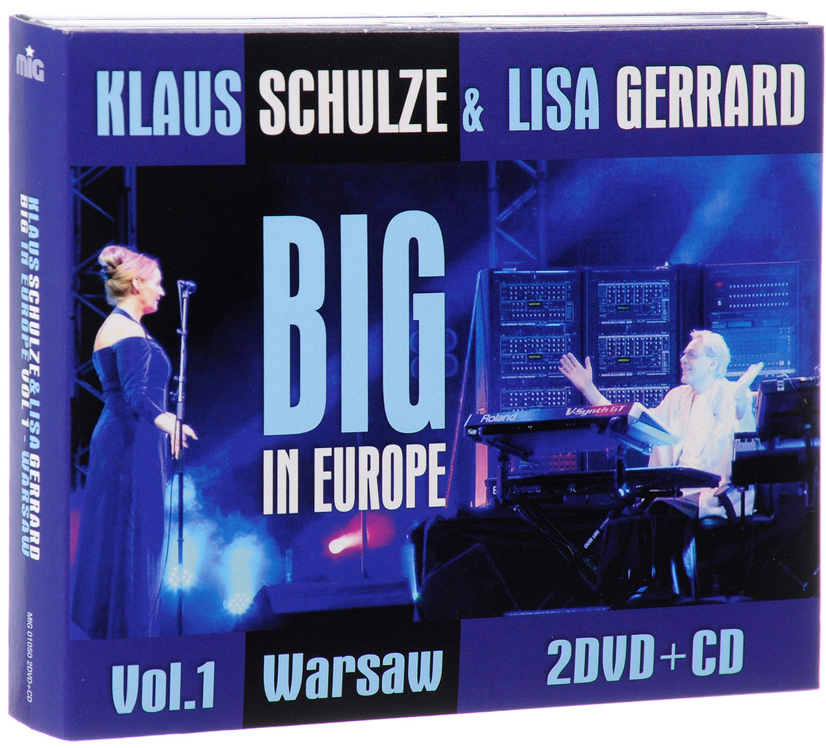 Клаус Шульце,Лайза Джеррард Klaus Schulze & Lisa Gerrard. Big In Europe. Vol. 1. Warsaw (CD + 2 DVD) warsaw warschau 1 15 000