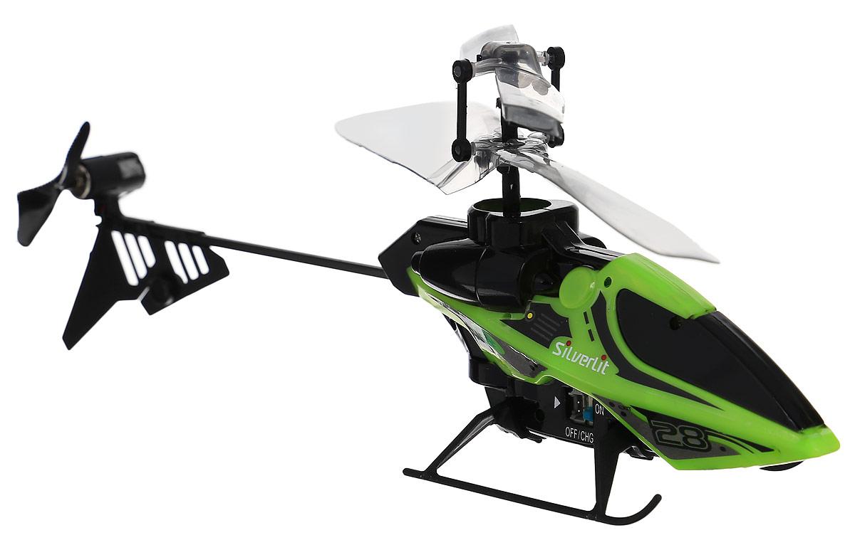 Silverlit Вертолет на инфракрасном управлении цвет черный салатовый вертолет silverlit мой первый вертолет на ик