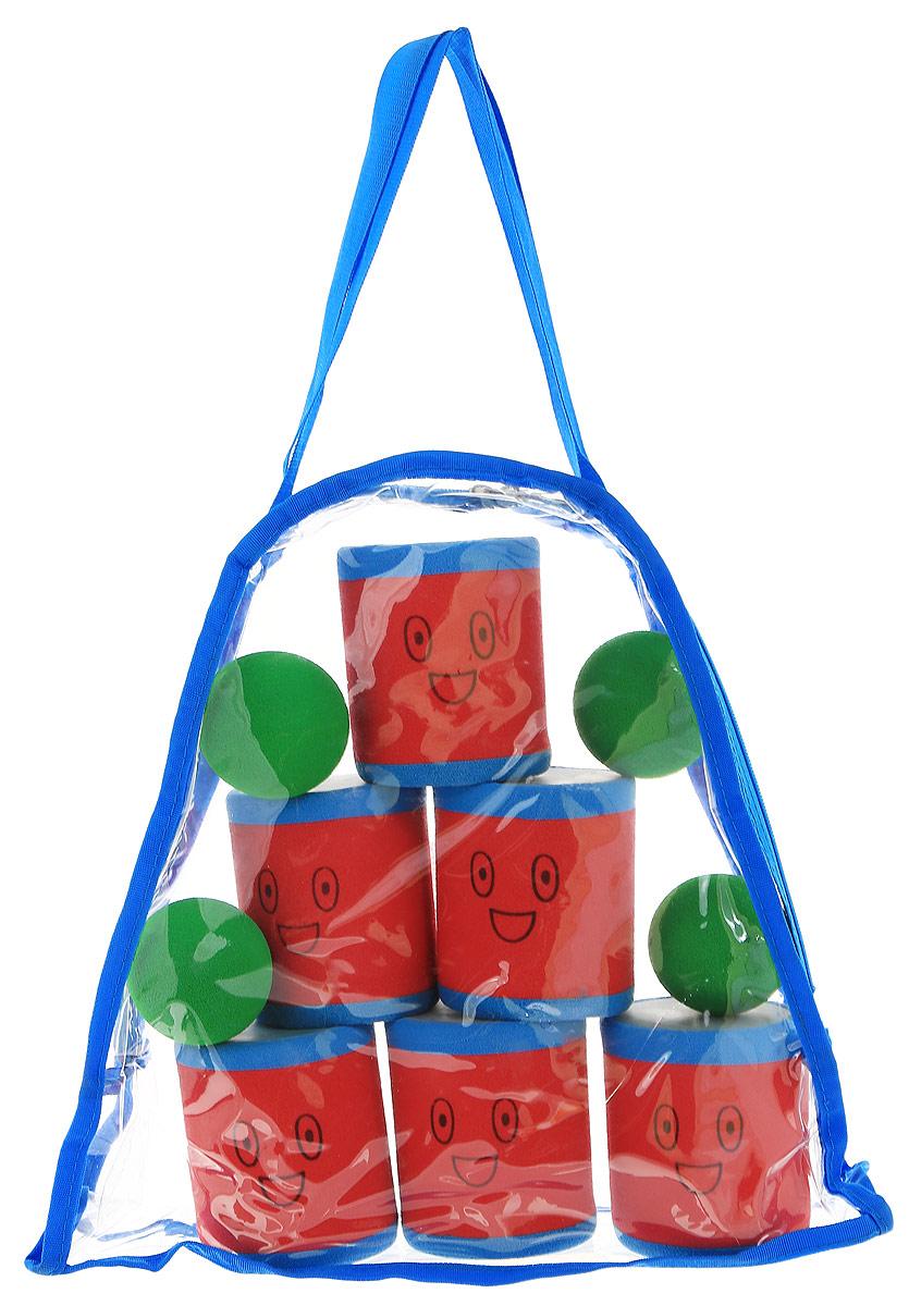 Safsof Игровой набор Городки цвет красный голубой зеленый городки