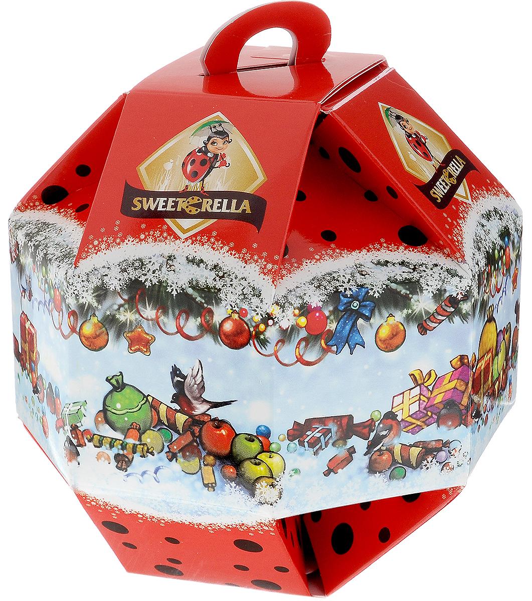 Sweeterella Новогодний шарик конфеты шоколадные, 138 г sweeterella набор сдобного печенья ассорти 710 г