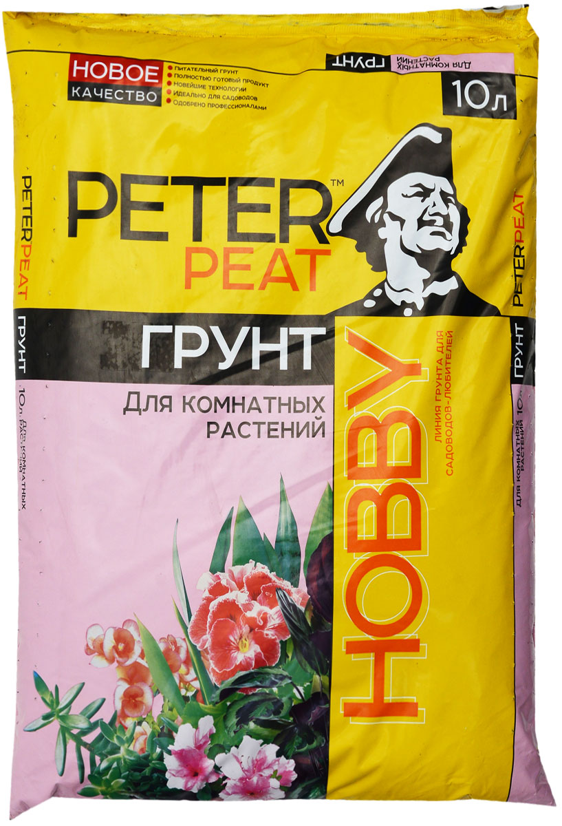 """Грунт Peter Peat """"Для комнатных растений"""" – это полностью готовый к использованию питательный торфяной грунт. Грунт предназначен для выращивания основных видов комнатных растений: бегонии, пеларгонии, хлорофитума, лилии и других видов. Способствует приживаемости растений и улучшает их декоративные качества."""