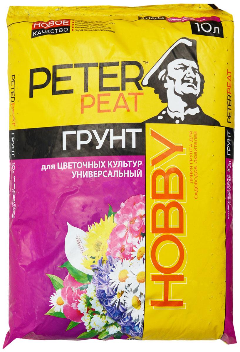 """Грунт Peter Peat """"Универсальный для цветочных культур"""" - это полностью готовый к использованию питательный торфяной грунт. Грунт предназначен для выращивания комнатных, оранжерейных и садовых цветов. Улучшает декоративные качества цветов, обеспечивает длительное и обильное цветение."""