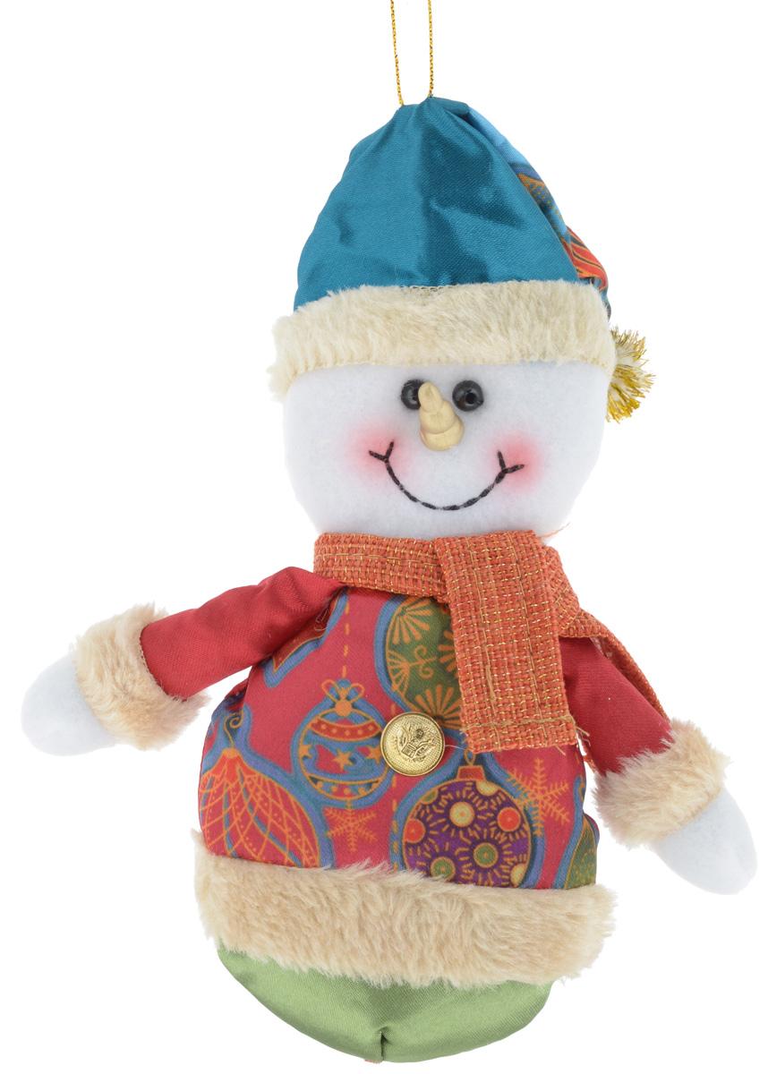 Украшение новогоднее подвесное Win Max Снеговик, высота 18 см175829_CНовогоднее подвесное украшение Win Max Снеговик, выполненное из синтепона и текстиля,прекрасно подойдет для праздничного декора дома. С помощью специальной петелькиукрашение можно подвесить в любом понравившемся вам месте.Новогодние украшения несут в себе волшебство и красоту праздника. Они помогут вам украситьдом к предстоящим праздникам и оживить интерьер по вашему вкусу. Создайте в домеатмосферу тепла, веселья и радости, украшая его всей семьей.