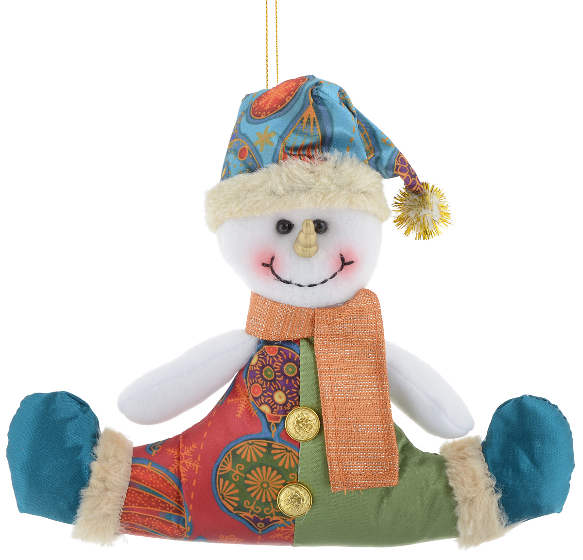 Украшение новогоднее подвесное Win Max Снеговик, 17 х 20,5 см набор сундучков win max 25 х 17 х 13 см 2 шт 83605
