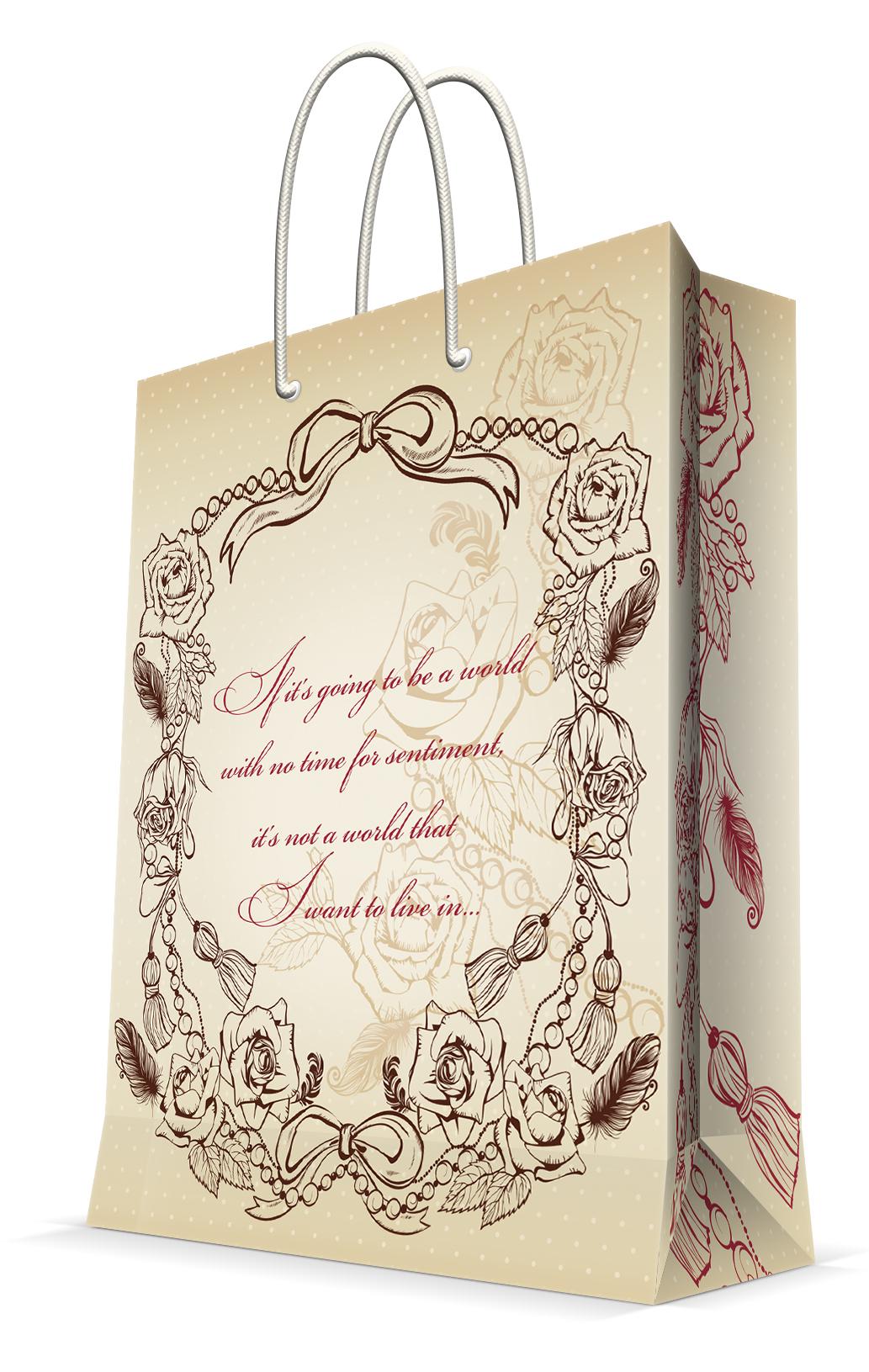Пакет подарочный Magic Home Виньетка, 17,8 х 22,9 х 9,8 см44173Подарочный пакет Magic Home, изготовленный из плотной бумаги, станет незаменимым дополнением к выбранному подарку. Дно изделия укреплено картоном, который позволяет сохранить форму пакета и исключает возможность деформации дна под тяжестью подарка. Пакет выполнен с глянцевой ламинацией, что придает ему прочность, а изображению - яркость и насыщенность цветов. Для удобной переноски имеются две ручки в виде шнурков.Подарок, преподнесенный в оригинальной упаковке, всегда будет самым эффектным и запоминающимся. Окружите близких людей вниманием и заботой, вручив презент в нарядном, праздничном оформлении.Плотность бумаги: 140 г/м2.
