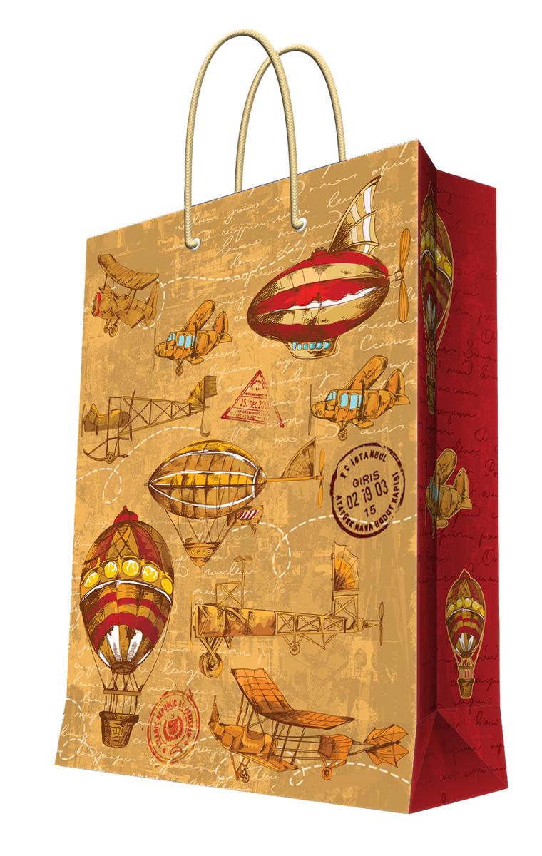 Пакет подарочный Magic Home Самолеты и дирижабли, 26 х 32,4 х 12,7 см44190Подарочный пакет Magic Home, изготовленный из плотной бумаги, станет незаменимым дополнением к выбранному подарку. Дно изделия укреплено картоном, который позволяет сохранить форму пакета и исключает возможность деформации дна под тяжестью подарка. Пакет выполнен с глянцевой ламинацией, что придает ему прочность, а изображению - яркость и насыщенность цветов. Для удобной переноски имеются две ручки в виде шнурков.Подарок, преподнесенный в оригинальной упаковке, всегда будет самым эффектным и запоминающимся. Окружите близких людей вниманием и заботой, вручив презент в нарядном, праздничном оформлении.Плотность бумаги: 140 г/м2.