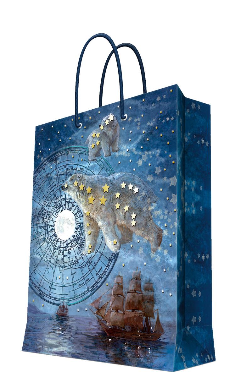 Пакет подарочный Magic Home Большая медведица, 26 х 32,4 х 12,7 см44228Бумажный подарочный пакет Magic Home Райский сад, изготовленный из плотной бумаги, станет незаменимым дополнением к выбранному подарку. Дно изделия укреплено картоном, который позволяет сохранить форму пакета и исключает возможность деформации дна под тяжестью подарка. Пакет выполнен с ламинацией, что придает ему прочность, а изображению - яркость и насыщенность цветов. Для удобной переноски имеются две ручки в виде шнурков. Подарок, преподнесенный в оригинальной упаковке, всегда будет самым эффектным и запоминающимся. Окружите близких людей вниманием и заботой, вручив презент в нарядном, праздничном оформлении.Плотность бумаги: 140 г/м2.