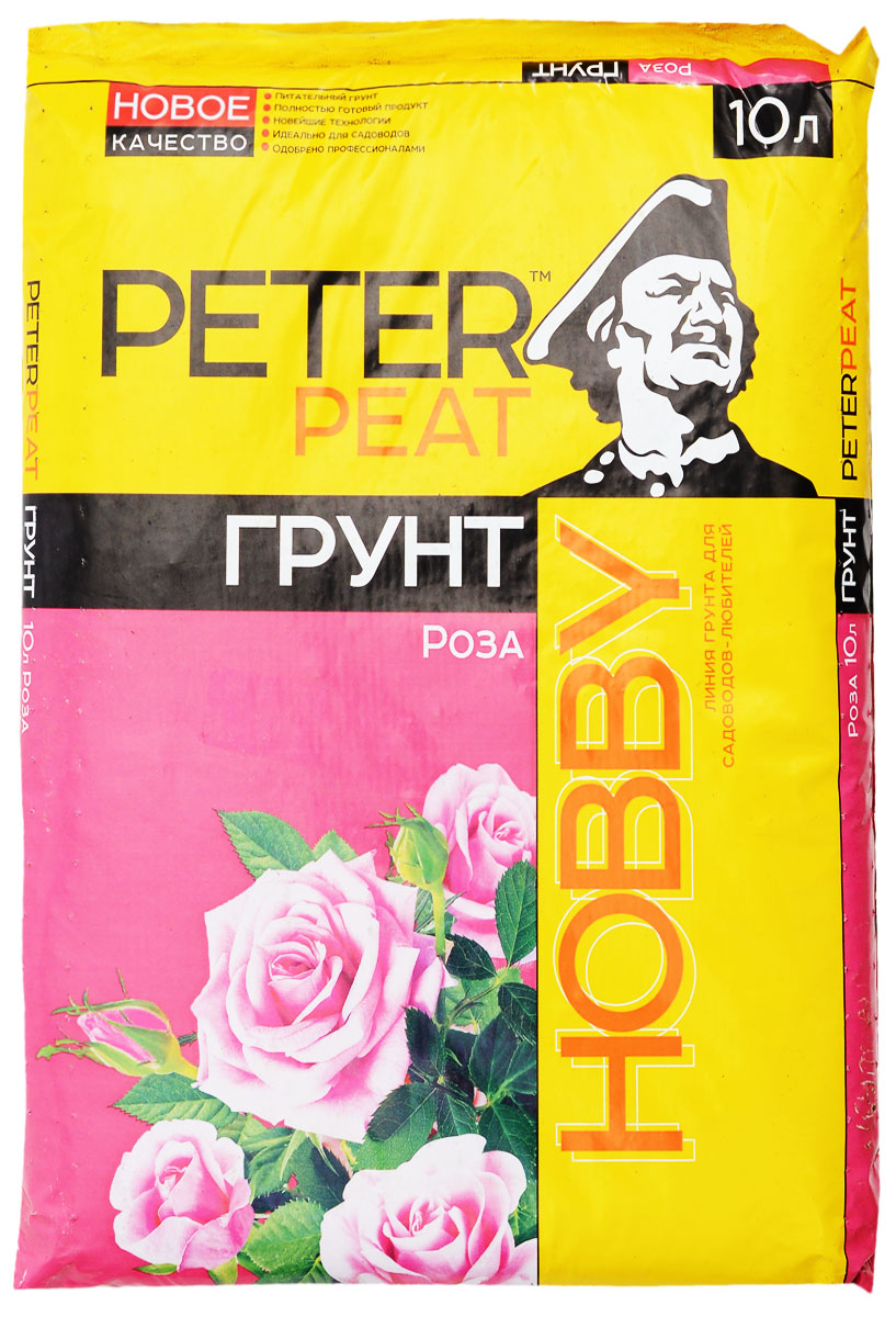 Грунт для растений Peter Peat Роза, 10 лХ-15-10Грунт Peter Peat Роза - это полностью готовый к использованию питательный торфяной грунт. Грунт предназначен для выращивания роз, хризантем, гвоздик, фрезий, гербер, цинерарий и других цветущих растений. Грунт обеспечивает хороший рост, интенсивное цветение, сбалансированное развитие корневой системы и надземной части растения.
