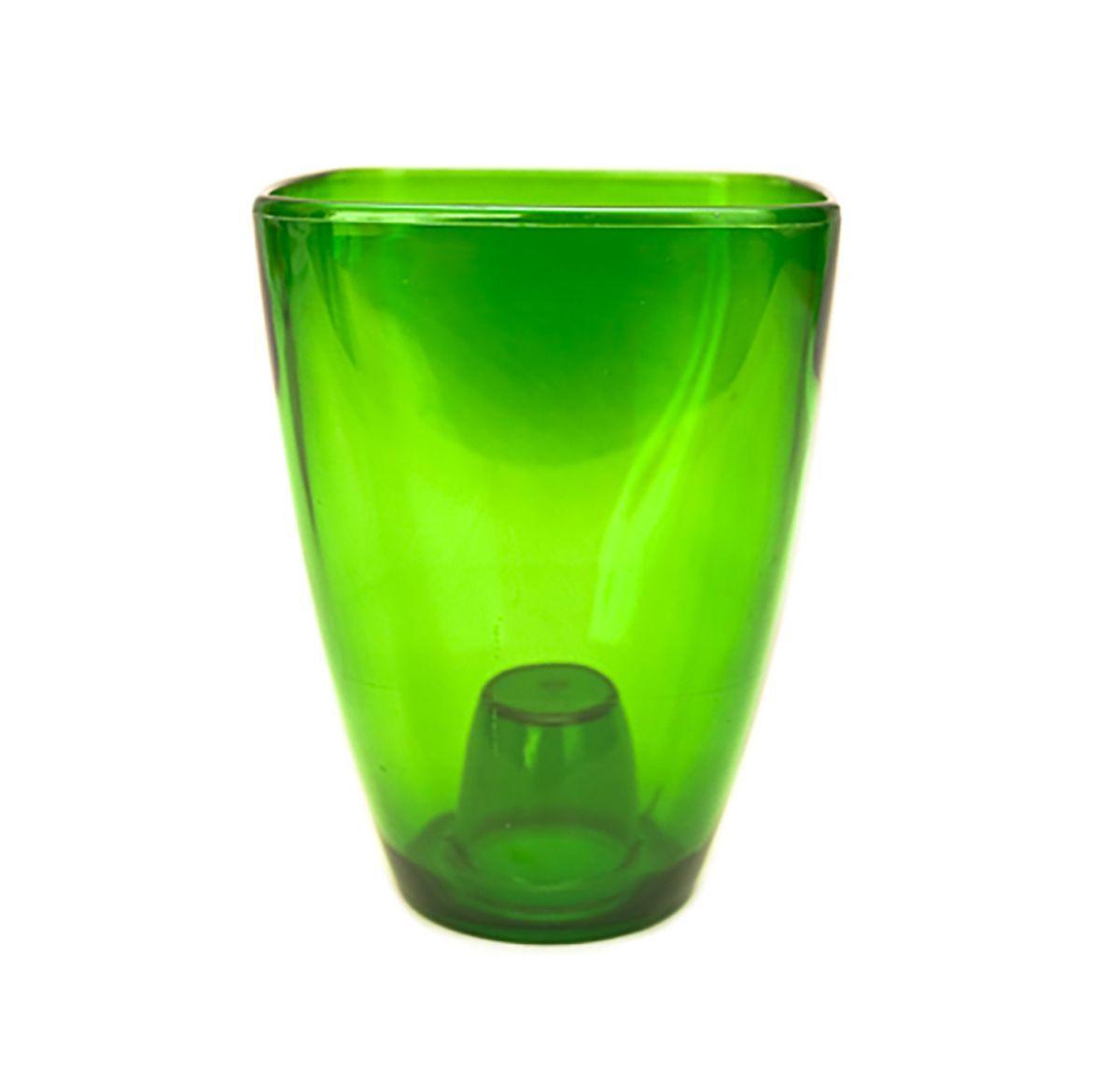 Кашпо для орхидей Form-Plastic Орхидея, цвет: зеленый, 13 х 13 х 17 см fimo kids form