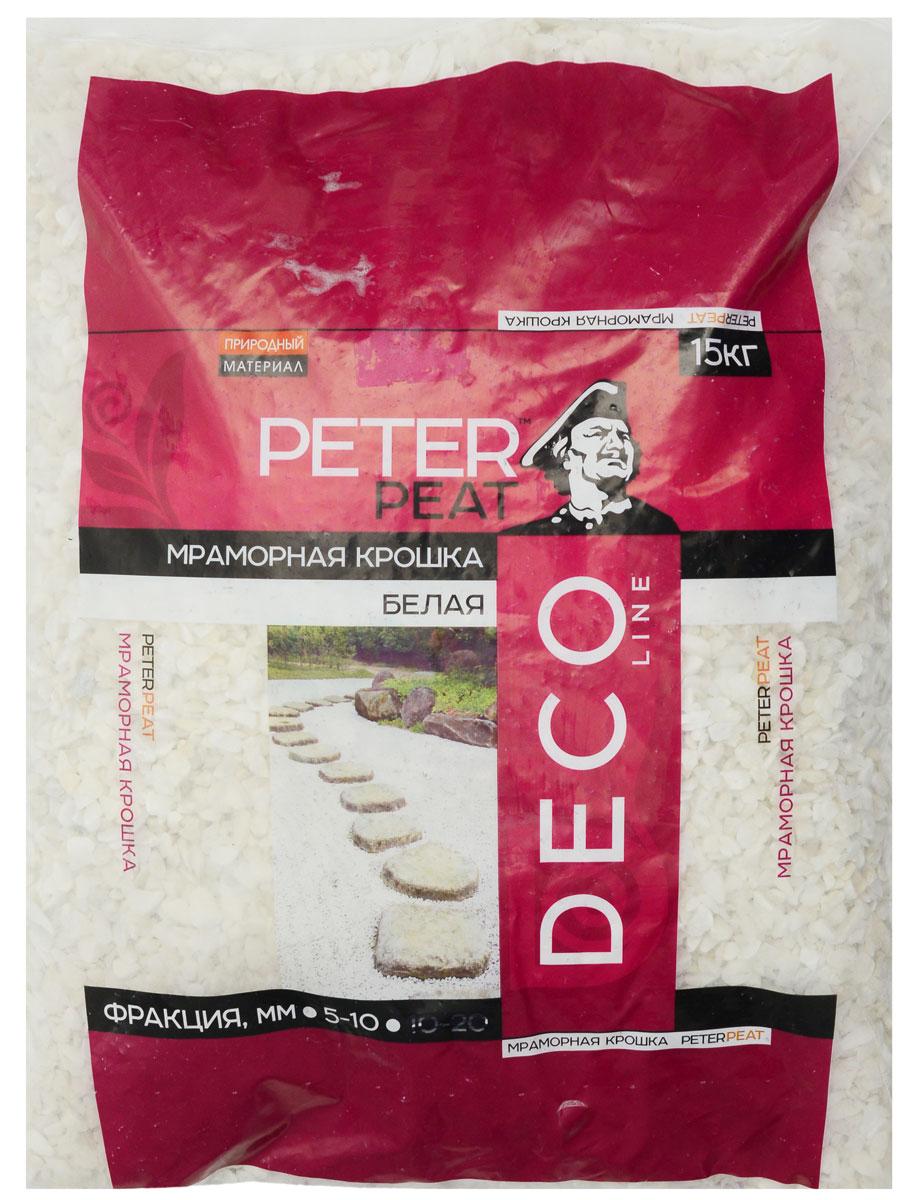 Крошка мраморная Peter Peat, цвет: белый, 5-10 мм, 15 кг миндальная крошка 150гр