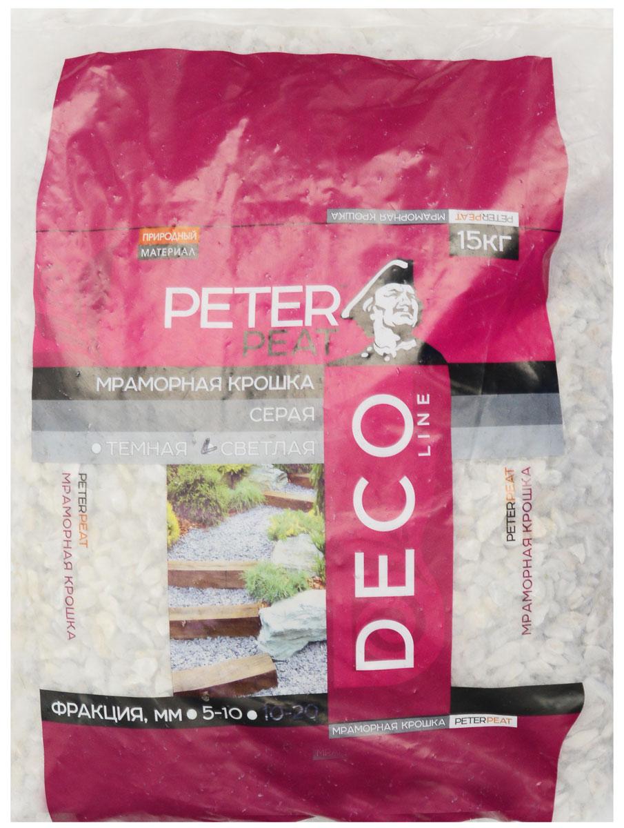"""Крошка мраморная """"Peter Peat"""", цвет: светло-серый, 5-10 мм, 15 кг"""