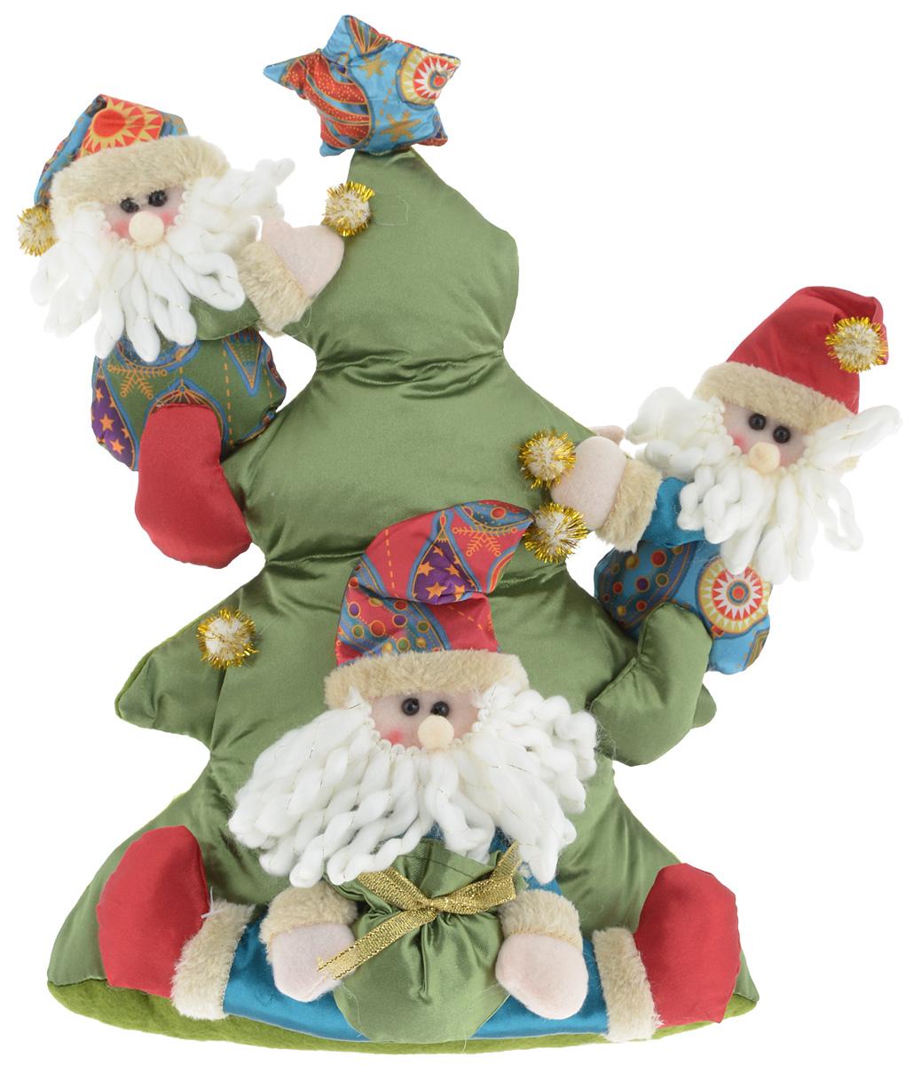 Украшение новогоднее декоративное Win Max Веселый праздник. Дед Мороз, высота 34 см175839_Дед МорозУкрашение новогоднее декоративное Win Max Веселый праздник. Дед Мороз прекрасно подойдет для праздничного декора вашего дома. Изделие выполнено из текстиля с наполнителем из синтепона в виде трех Дедов Морозов, которые карабкаются на елку. Для утяжеления и повышения устойчивости игрушки служит гранулят из полимера. Новогодние украшения несут в себе волшебство и красоту праздника. Они помогут вам украсить дом к предстоящим праздникам и оживить интерьер. Создайте в доме атмосферу тепла, веселья и радости, украшая его всей семьей.Кроме того, такая игрушка станет приятным подарком, который надолго сохранит память этого волшебного времени года.