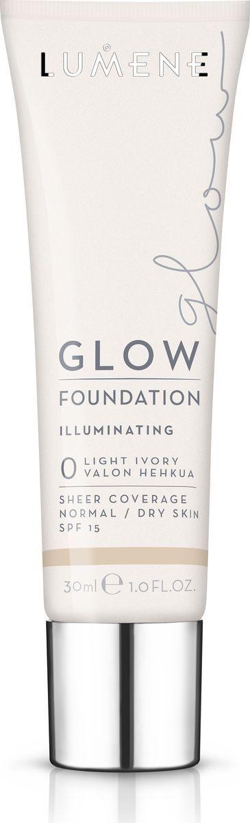 Lumene Glow SPF 15 Придающий сияние тональный крем № 0, 30 млNL290-82770Увлажняющая тональная основа с легким покрытием выравнивает тон кожи и придает естественное сияние. Обладает защитой от UV-лучей. Придает коже естесственное сияние. Подходит для сухой и нормальной кожи. Оттенок 0.