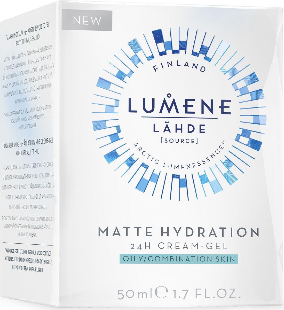 Lumene Lahde 24 часа Увлажняющий крем-гель Роскошь матовой кожи , 50 млNL580-80319Контролирует жирный блеск и сокращает видимость пор, обеспечивая эффективное увлажнение. Без масел.