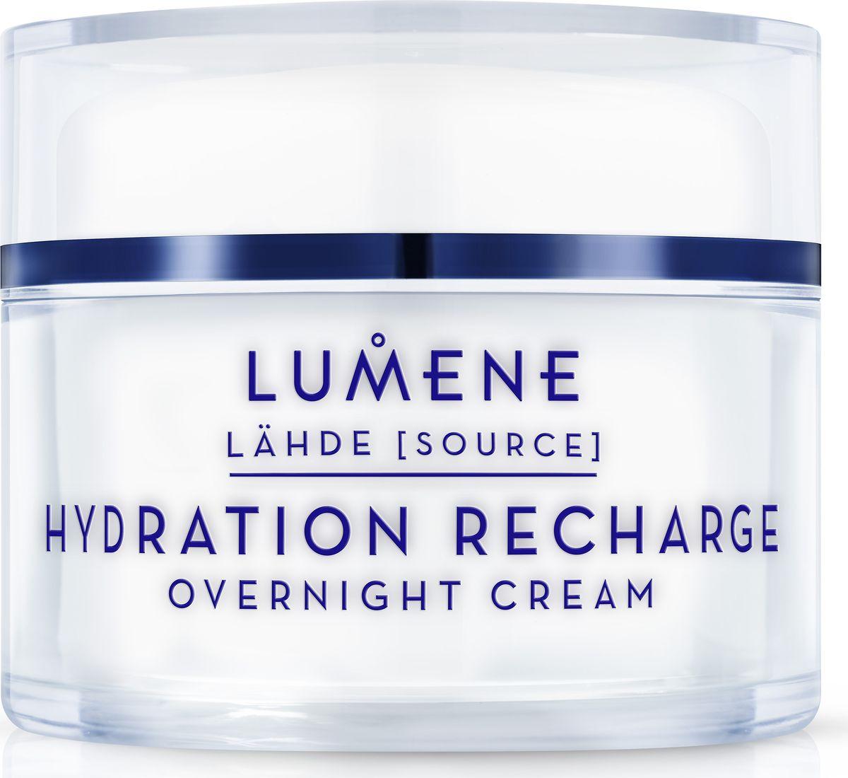 Lumene Lahde Ночной увлажняющий восстанавливающий крем, 50 мл lumene lahde hydration recharge overnight cream крем ночной увлажняющий восстанавливающий 50 мл