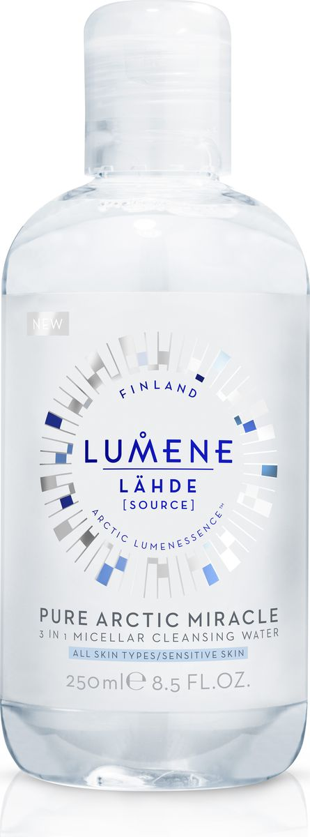 Lumene Lahde Мицеллярная вода 3 в 1, 250 млNL580-80324Бережно удаляет макияж и загрязнения, увлажняет кожу. Придает сияние при постоянном использовании. Не нужно смывать или наносить тоник после использования. Подходит для чувствительной кожи. Без отдушек.