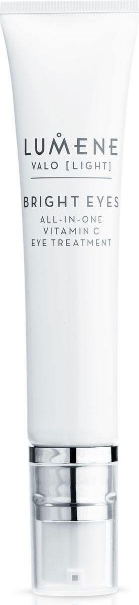 Lumene Valo Средство для области вокруг глаз Vitamin C, 15 мл10023249Крем укрепляет кожу в области вокруг глаз, в том числе предотвращает обвисание верхнего века; уменьшает темные круги, отечность и морщинки. Небольшое количество нанести на кожу вокруг глаз. Без отдушек.