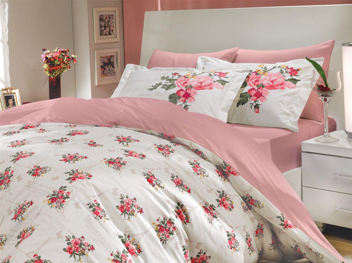 Комплект белья Hobby Home Collection Paris Spring, евро, наволочки 50x70, 70x70, цвет: розовый1501000145Комплект постельного белья Hobby Home Collection изготовлен из высококачественного поплина. Поплин - это ткань, изготавливаемая традиционным полотняным плетением из 100% хлопка, но из нитей разного калибра, за счет чего полотно получается с легким рубчиковым рельефом. По многим характеристикам ткань похожа на бязь, но на ощупь гораздо приятнее — более гладкая и мягкая. Поплин обладает лучшими свойствами ткани для постельного белья. Он плотный и в то же время мягкий на ощупь, износостойкий, немнущийся, гигроскопичный и неприхотливый в уходе, а после стирки практически не нуждается в глажке. Поплин обладает множеством преимуществ: - белье из него плотное, прочное и износостойкое; - не выцветает и не сминается; - не линяет и не деформируется (при стирке до 40°С); - натуральный хлопок в составе обеспечивает абсолютную гигиеничность постельного белья; - поплин хорошо вентилируется и впитывает влагу, отводя ее излишки от тела. По легенде этот материал впервые произвели во французской резиденции Папы Римского, городе Авиньон. За это ткань назвали поплином, что означает папский. С тех пор, вслед за Европой, полотно покорило весь мир, и на сегодня это самый востребованный материал для постельного белья. Постельное белье имеет 3D рисунок. Это объемный рисунок, который позволяет увидеть изображение более реальным, живым. 3D печать на постельном белье невозможна простым способом. Для достижения высокого качества применяется Digital textile printing (англ. Digital textile printing - прямая цифровая печать по текстилю) — способ нанесения изображения на ткань, предполагающий прямую реактивную печать. Сам вид такой печати обеспечивает долговечность нанесенного изображения. На ткань, наносится ультрачеткое и яркое 3D изображение, вследствие чего картинка выглядит очень реалистично. Просматриваются даже самые мелкие детали. Постельное белье из поплина способно не только создать иде