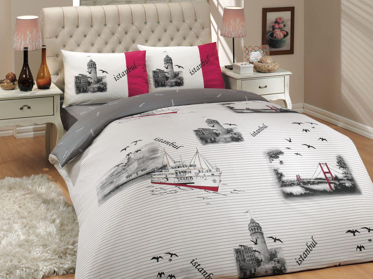 Комплект белья Hobby Home Collection Istanbul, 1,5-спальный, наволочки 50x70, 70x70, цвет: серый1501000244Комплект белья Hobby Home Collection состоит из простыни, пододеяльника и 2 наволочек. Белье выполнено из ранфорса - это ткань из 100% натурального хлопка, которая легко стирается, практичнее льна, подстраивается под температуру воздуха - зимой на таком белье тепло, летом - прохладно. Мягкость и нежность материала создает чувство комфорта и защищенности. У хлопка хорошая проводимость тепла, поэтому постельное белье из него может надолго оставаться свежим. Постельное белье с оригинальными дизайнами станет отличным выбором для людей, стремящихся всегда быть стильными.