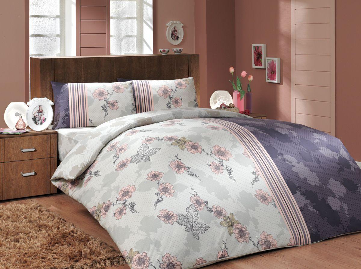 Комплект белья Hobby Home Collection Liana, 1,5-спальный, наволочки 50x70, 70x70, цвет: фиолетовый платье liana