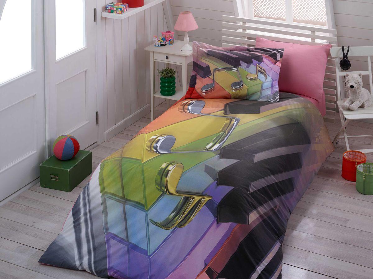 Комплект белья Hobby Home Collection Melody, 1,5-спальный, наволочка 50х70, цвет: мульти1501000889Комплект постельного белья Hobby Home Collection изготовлен из высококачественного поплина. Поплин - это ткань, изготавливаемая традиционным полотняным плетением из 100% хлопка, но из нитей разного калибра, за счет чего полотно получается с легким рубчиковым рельефом. По многим характеристикам ткань похожа на бязь, но на ощупь гораздо приятнее — более гладкая и мягкая. Поплин обладает лучшими свойствами ткани для постельного белья. Он плотный и в то же время мягкий на ощупь, износостойкий, немнущийся, гигроскопичный и неприхотливый в уходе, а после стирки практически не нуждается в глажке.Поплин обладает множеством преимуществ:- белье из него плотное, прочное и износостойкое;- не выцветает и не сминается;- не линяет и не деформируется (при стирке до 40°С);- натуральный хлопок в составе обеспечивает абсолютную гигиеничность постельного белья;- поплин хорошо вентилируется и впитывает влагу, отводя ее излишки от тела.По легенде этот материал впервые произвели во французской резиденции Папы Римского, городе Авиньон. За это ткань назвали поплином, что означает папский. С тех пор, вслед за Европой, полотно покорило весь мир, и на сегодня это самый востребованный материал для постельного белья.Постельное белье имеет 3D рисунок. Это объемный рисунок, который позволяет увидеть изображение более реальным, живым. 3D печать на постельном белье невозможна простым способом. Для достижения высокого качества применяется Digital textile printing (англ. Digital textile printing - прямая цифровая печать по текстилю) — способ нанесения изображения на ткань, предполагающий прямую реактивную печать. Сам вид такой печати обеспечивает долговечность нанесенного изображения. На ткань, наносится ультрачеткое и яркое 3D изображение, вследствие чего картинка выглядит очень реалистично. Просматриваются даже самые мелкие детали.Постельное белье из поплина способно не только создать идеальные условия 