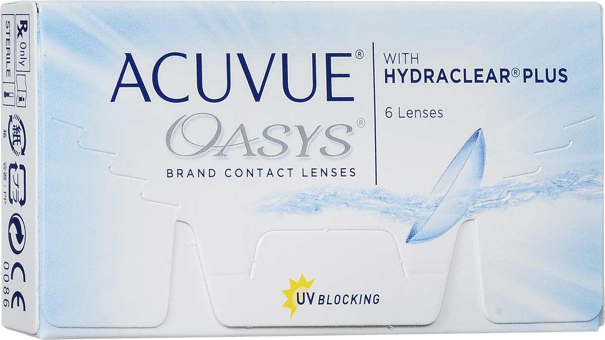 Johnson & Johnson Контактные линзы Acuvue Oasys / 8.4 / -6.5044358Мягкие контактные линзыКонтактные линзы или очки: советы офтальмологов. Статья OZON Гид