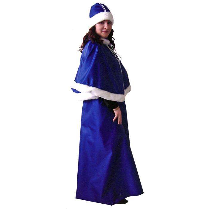 Карнавальный костюм женский Eva Снегурочка, цвет: синий, белый. Размер универсальный