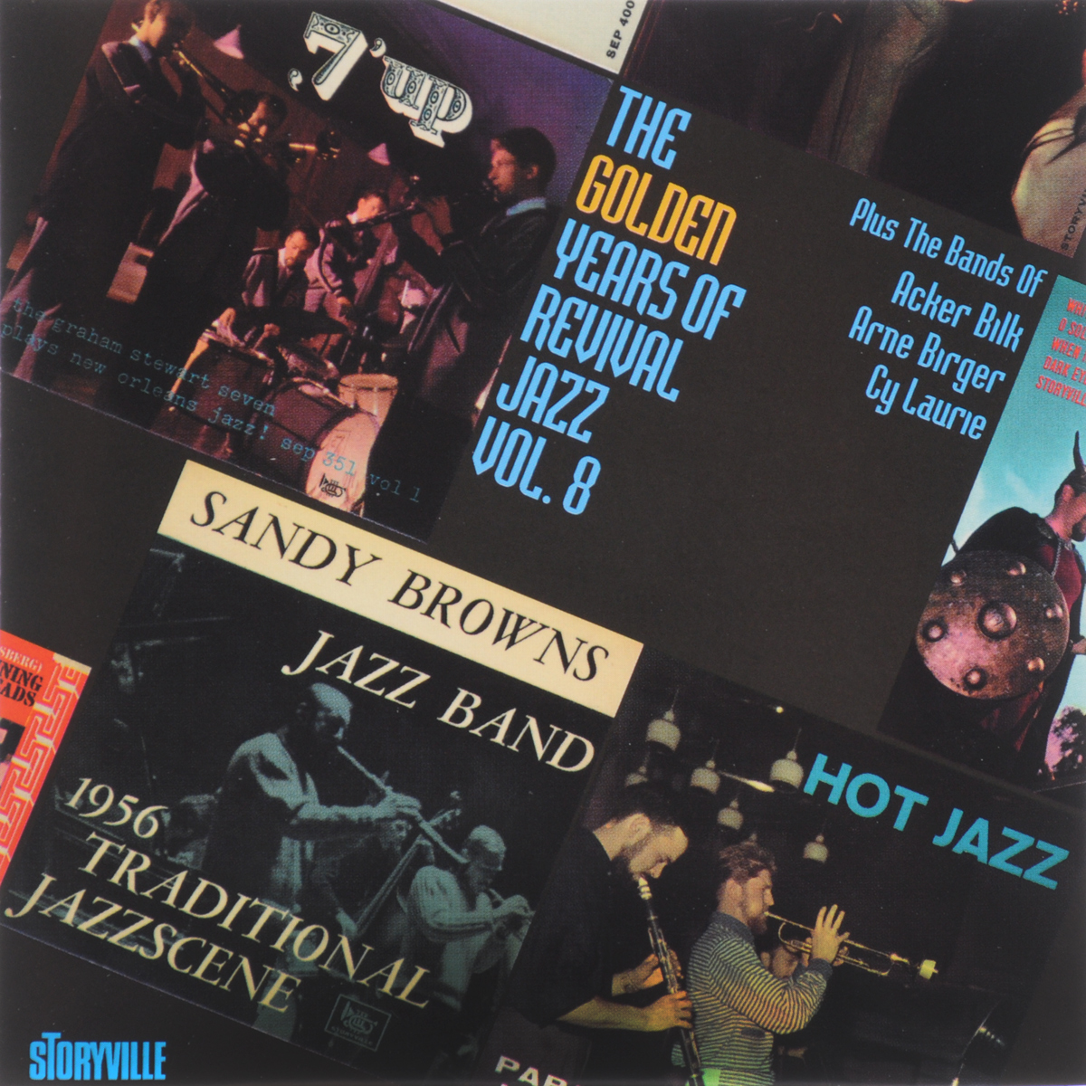 Papa Bue's Viking Jazz Band,Sandy Brown's Jazz Band,The Graham Stewart Seven,Акер Билк,His Paramount Jazz Band,Arne Birger's Jazzsjak,Cy Laurie's New Orleans Septet The Golden Years Of Revival Jazz. Vol.8 jazz